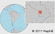 Gray Location Map of Pilcomayo