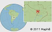Savanna Style Location Map of Pilcomayo