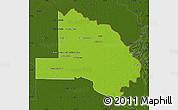 Physical Map of Pilcomayo, darken