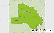Physical Map of Pilcomayo, lighten