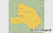Savanna Style Map of Pilcomayo