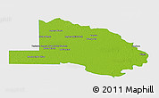 Physical Panoramic Map of Pilcomayo, single color outside
