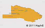 Political Panoramic Map of Pilcomayo, cropped outside