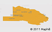 Political Panoramic Map of Pilcomayo, single color outside