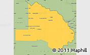 Savanna Style Simple Map of Pilcomayo
