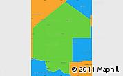 Political Simple Map of Pirane