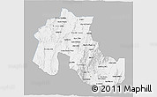 Gray 3D Map of Jujuy, single color outside