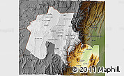 Physical 3D Map of Jujuy, darken
