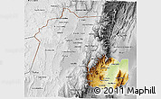 Physical 3D Map of Jujuy, desaturated