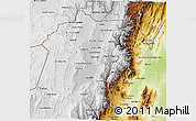 Physical 3D Map of Jujuy