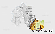 Physical 3D Map of Jujuy, single color outside