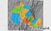 Political 3D Map of Jujuy, desaturated