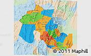 Political 3D Map of Jujuy, lighten