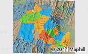 Political 3D Map of Jujuy, semi-desaturated