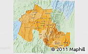 Political Shades 3D Map of Jujuy, lighten