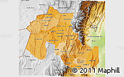 Political Shades 3D Map of Jujuy, physical outside