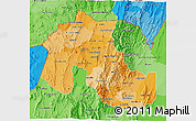 Political Shades 3D Map of Jujuy