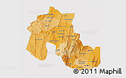 Political Shades 3D Map of Jujuy, single color outside