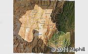 Satellite 3D Map of Jujuy, darken