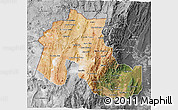 Satellite 3D Map of Jujuy, desaturated