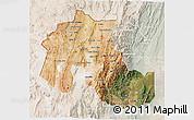 Satellite 3D Map of Jujuy, lighten