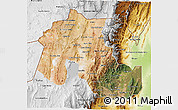 Satellite 3D Map of Jujuy, physical outside