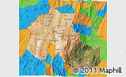 Satellite 3D Map of Jujuy, political outside