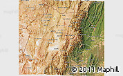 Satellite 3D Map of Jujuy