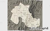 Shaded Relief 3D Map of Jujuy, darken
