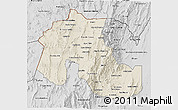 Shaded Relief 3D Map of Jujuy, desaturated