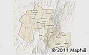Shaded Relief 3D Map of Jujuy, lighten