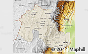 Shaded Relief 3D Map of Jujuy, physical outside