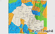 Shaded Relief 3D Map of Jujuy, political outside