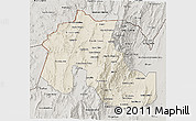 Shaded Relief 3D Map of Jujuy, semi-desaturated
