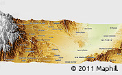 Physical Panoramic Map of El Carmen