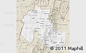 Classic Style Map of Jujuy