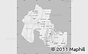 Gray Map of Jujuy, single color outside