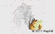 Physical Map of Jujuy, cropped outside