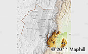 Physical Map of Jujuy, lighten