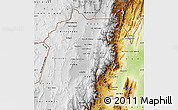 Physical Map of Jujuy