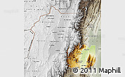 Physical Map of Jujuy, semi-desaturated