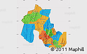 Political Map of Jujuy, cropped outside