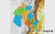 Political Map of Jujuy, physical outside