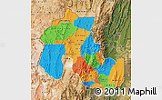 Political Map of Jujuy, satellite outside