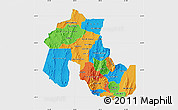 Political Map of Jujuy, single color outside