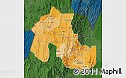 Political Shades Map of Jujuy, darken