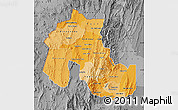 Political Shades Map of Jujuy, desaturated
