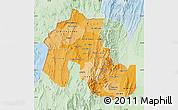 Political Shades Map of Jujuy, lighten