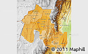 Political Shades Map of Jujuy, physical outside