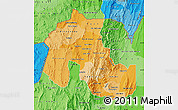 Political Shades Map of Jujuy